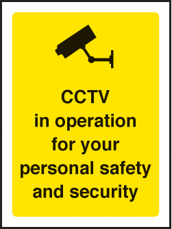 59791 CCTV in operation for your safety 75x100mm sav on face  (75x100mm) Safety Sign