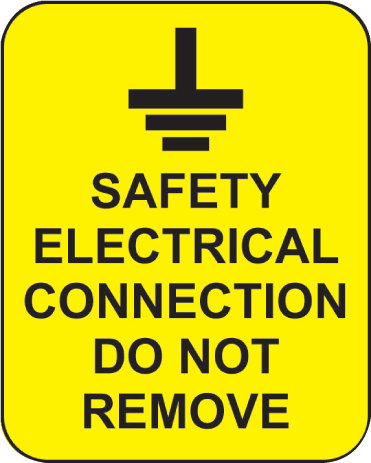59816 Safety electrical connection do not remove roll of 100 labels 40x50mm  (40x50mm) Safety Sign