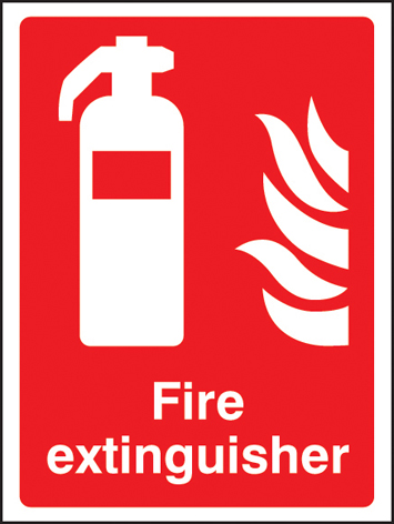 81013E Fire extinguisher  (200x150mm) Rigid PVC with SAV Backing Safety Sign