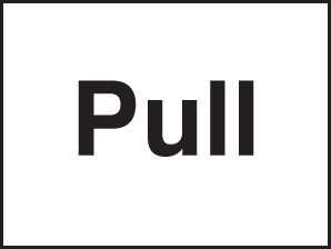 87029A Pull  (100x75mm) Rigid PVC with SAV Backing Safety Sign