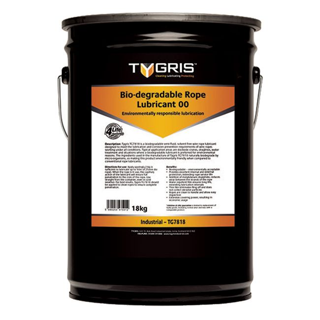 TG7818 BE-100 Rope Lubricant 00 - Size 18 Kg Sold Individually